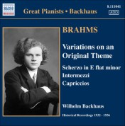 Brahms: Solo Piano Works (Backhaus) (1932-1936) - CD