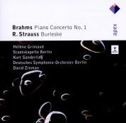 Hélène Grimaud, Staatskapelle Berlin, Kurt Sanderling, Deutsches Symphonie-Orchester Berlin, David Zinman: Brahms: Piano Concerto No.1, Strauss: Burleske - CD