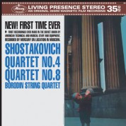 Borodin String Quartet: Shostakovich: String Quartets Nos. 4 & 8 - Plak