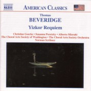 Beveridge: Yizkor Requiem - CD