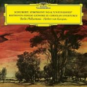 Herbert von Karajan, Berliner Philharmoniker: Schubert, Beethoven: Symphony No.8, Overtures - Plak