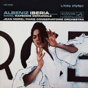 Jean Morel, Paris Conservatoire Orchestra: Albeniz, Ravel: Iberia (complete), Rapsodie Espagnole (200 g) - Plak