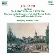 Wolfgang Rubsam: Bach: Partitas, BWV 825-826 - Capriccio on the Departure of his Most Beloved Brother - Prelude and Fughetta in G major, BWV 902 - CD