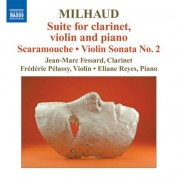 Jean-Marc Fessard: Milhaud: Suite for clarinet, violin and piano - CD