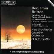 Christina Högman, Nils-Erik Sparf, Péter Csaba: Britten: Variations on a Theme of Frank Bridge, Lachrymae, Illuminations - CD