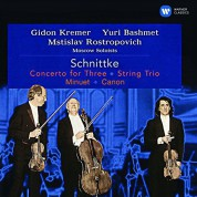 Mstislav Rostropovich, Gidon Kremer, Yuri Bashmet, Moscow Philharmonic Society Soloists: Schnittke / Berg: Concerto for Three, String Trio, Minuet / Canon - CD