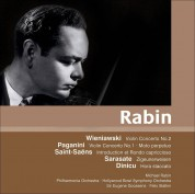 Michael Rabin, Philharmonia Orchestra, Hollywood Bowl Orchestra, Eugene Goossens, Felix Slatkin: Michael Rabin Plays Violin Concertos (Wieniawski, Paganini, Saint Saens, Sarasate) - CD
