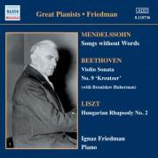 Mendelssohn: Songs Without Words (Friedman) (1930-1931) - CD