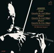 Jascha Heifetz, New Symphony Orchestra of London, Malcolm Sargent: Bruch, Mozart: Violin Concerto - CD