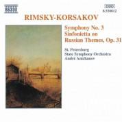Rimsky-Korsakov: Symphony No. 3 / Sinfonietta Op. 31 - CD