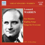 Leonard Warren: Warren, Leonard: Sea Shanties - Kipling Songs - Songs for Everyone (1947-1951) - CD