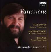 Alexander Korsantia: Variations: Beethoven, Copland, Rachmaninoff - CD