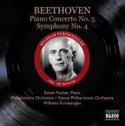 Wilhelm Furtwängler: Beethoven: Piano Concerto No. 5 - Symphony No. 4 - CD