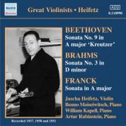 Beethoven / Brahms / Franck: Violin Sonatas (Heifetz) (1937-1951) - CD