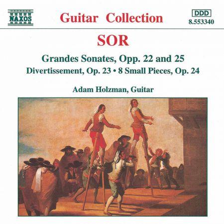 Adam Holzman: Sor: Grandes Sonates Opp. 22 & 25 - Divertissement, Op. 23 - CD