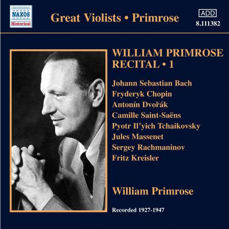 William Primrose: Primrose: Recital, Vol. 1 - CD