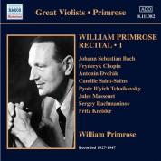 William Primrose: Primrose: Recital, Vol. 1 - CD