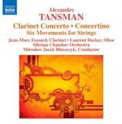 Jean-Marc Fessard: Tansman: Clarinet Concerto - Concertino - CD