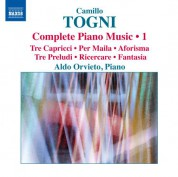 Aldo Orvieto: Togni: Complete Piano Music, Vol. 1 - CD