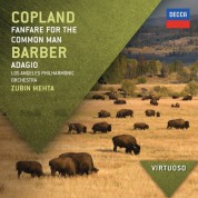 Baltimore Symphony Orchestra, Los Angeles Philharmonic, Zubin Mehta, David Zinman: Copland/ Barber: Fanfare For The Common Man/ Adagio - CD