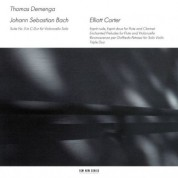 Thomas Demenga: Johann Sebastian Bach / Elliott Carter - CD