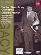Boston Symphony Orchestra, Charles Munch: Schumann/ Schubert: Genoveva Overture, Sym. No.2/ Symphony No. 5 - DVD
