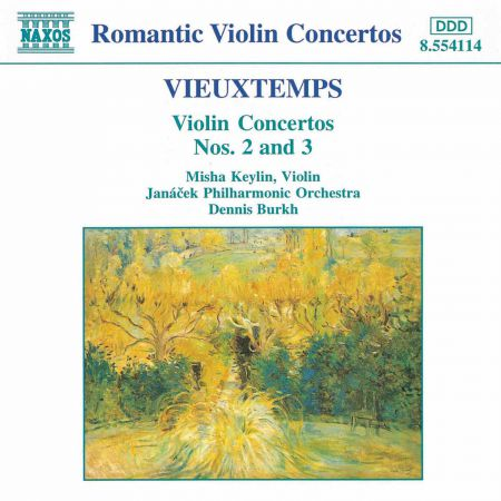 Misha Keylin: Vieuxtemps: Violin Concertos Nos. 2 and 3 - CD