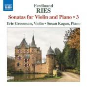 Susan Kagan, Eric Grossman: Ries: Sonatas for Violin and Piano - CD