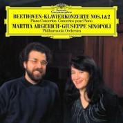 Martha Argerich, Giuseppe  Sinopoli: Beethoven: Piano Concertos No. 1 & 2 - Plak