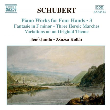 Jeno Jando, Zsuzsa Kollar: Schubert: Piano Works for Four Hands, Vol. 3 - CD