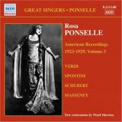 Rosa Ponselle: Ponselle, Rosa: American Recordings, Vol. 3 (1923-1929) - CD