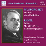 Boston Symphony Orchestra: Mussorgsky: Pictures at an Exhibition / Ravel: Bolero (Koussevitzky) (1930-1947) - CD