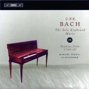 Miklós Spányi: C.P.E. Bach: Solo Keybord Music, Vol. 25 - CD