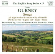 Susan Bickley: Gurney, I.: Songs (English Song, Vol. 19) - CD
