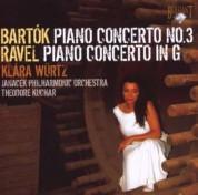 Klára Würtz, Janáček Philharmonic Orchestra, Theodore Kuchar: Bartok: Piano Concerto No. 3 - Ravel: Piano Concerto in G - CD
