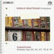 Ronald Brautigam: Beethoven: Complete Works for Solo Piano, Vol. 6 on forte-piano - SACD