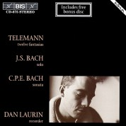 Dan Laurin: Telemann; J.S. Bach; C.P.E. Bach for recorder solo - CD