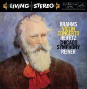 Jascha Heifetz, Chicago Symphony Orchestra, Fritz Reiner: Brahms: Violin Concerto (200g-edition) - Plak