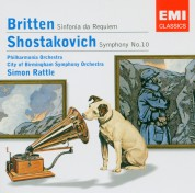 Philharmonia Orchestra, City of Birmingham Symphony Orchestra, Sir Simon Rattle: Britten: Sinfonia de Requiem, Shostakovich: Symphony No:10 - CD