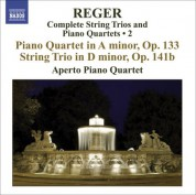 Aperto Piano Quartet: Reger, M: String Trios and Piano Quartets (Complete), Vol. 2  - Piano Quartet, Op. 133 / String Trio, Op. 141B - CD