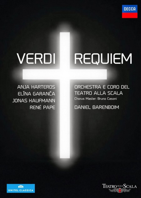 Coro del Teatro alla Scala di Milano, Anja Harteros, Daniel Barenboim, Elina Garanča, Jonas Kaufmann, René Pape: Verdi: Requiem - DVD