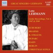 Lotte Lehmann: Lehmann, Lotte: Lieder Recordings, Vol. 6 (1947, 1949) - CD