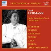 Lotte Lehmann: Lehmann, Lotte: Lieder Recordings, Vol. 6 (1947, 1949) - CD