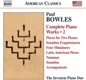 The invencia Piano Duo: Bowles: Com. Piano Works Vol.2 - CD