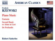 Robert Satterlee: Rzewski: Piano Music - CD
