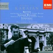 Philharmonia Orchestra, Herbert Von Karajan: Britten/ Vaughan Williams/ Stravinsky: Variations on a Theme by Bridge op. 10/ Tallis Variations/ Jeu de Cartes - CD