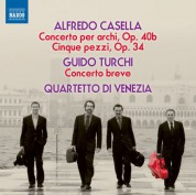 Quartetto d'Archi di Venezia: Casella & Turchi: Works for String Quartet - CD