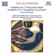 Szymanowski: Symphonies Nos. 3 and 4 - CD