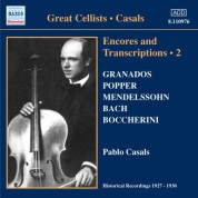 Casals, Pablo: Encores and Transcriptions, Vol. 2 (1927-1930) - CD