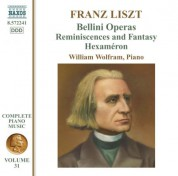 William Wolfram: Liszt Complete Piano Music, Vol. 31: Bellini Operas - CD